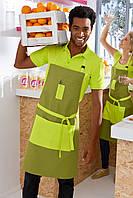 Фартук для официанта и бармена TEXSTYLE олива с кислотными карманами