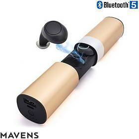 Беспроводные Bluetooth наушники - Mavens S2 TWS Bluetooth 5.0 золотые