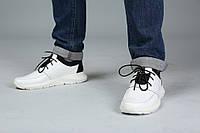 VM-Villomi Белые кожаные кроссовки со стрейчем