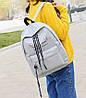 Большой тканевый рюкзак с надписью и принтом ушек, фото 4