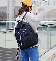 Большой тканевый рюкзак с надписью и принтом ушек, фото 2