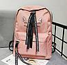 Большой тканевый рюкзак с надписью и принтом ушек, фото 6