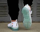 Мужские кроссовки Nike Air Vapormax x Off White 2018 (Premium-class) белые, фото 4
