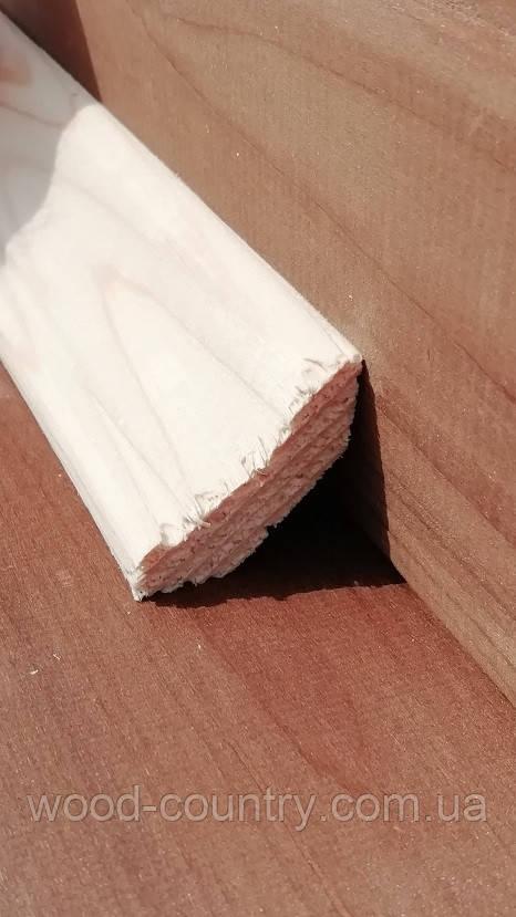 Угол внутренний 35 мм сосна рустик