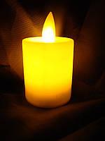 """Led свічка  5,5*3,5 см з  мерехтливим полум'ям , Світло  жовте """"White""""  , з батарейками, фото 1"""