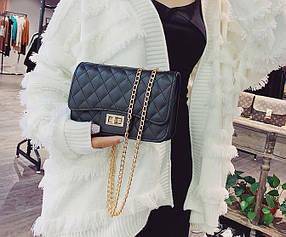 Стеганая Fashion сумка клатч на цепочке
