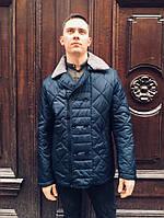 Мужская куртка ветровка весна осень на тонком синтепоне классика двубортная модель