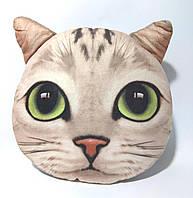Декоративная подушка с 3D принтом  MP 1298 животное, размер средний, в кульке, 30-28см кот белый