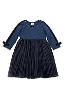 Платье для девочки с юбкой-плиссе 3 — 7 лет