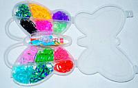 Резиночки для плетения браслетов Бабочка 400 шт.