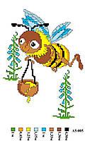 """Набор для вышивки нитками """"Пчёлка"""". А5-005"""