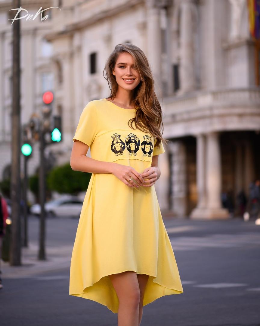 Платье  ассиметричное Ткань турецкий коттон  42-44,46-48  Цвет - коралл, хаки, лаванда, желтый