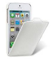 "Чехол-флип iPhone 5 / 5G / 5S ""Melkco"" белая кожа"