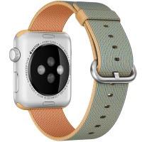 Нейлоновый ремешок oneLounge Woven Nylon Gold/Royal Blue для Apple Watch 38mm/40mm Series 5/4/3/2/1