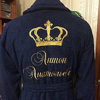 Надпись на халате мужчине