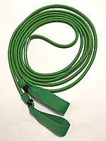 Эспандер для лыжника, боксера, пловца и фитнеса с ручками 10 мм, зеленый, 1 метр.