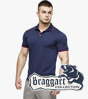 Рубашка поло мужская 6093 т.синий-красный
