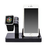 Черная док-станция CinkeyPro Charger Dock для Apple Watch / iPhone