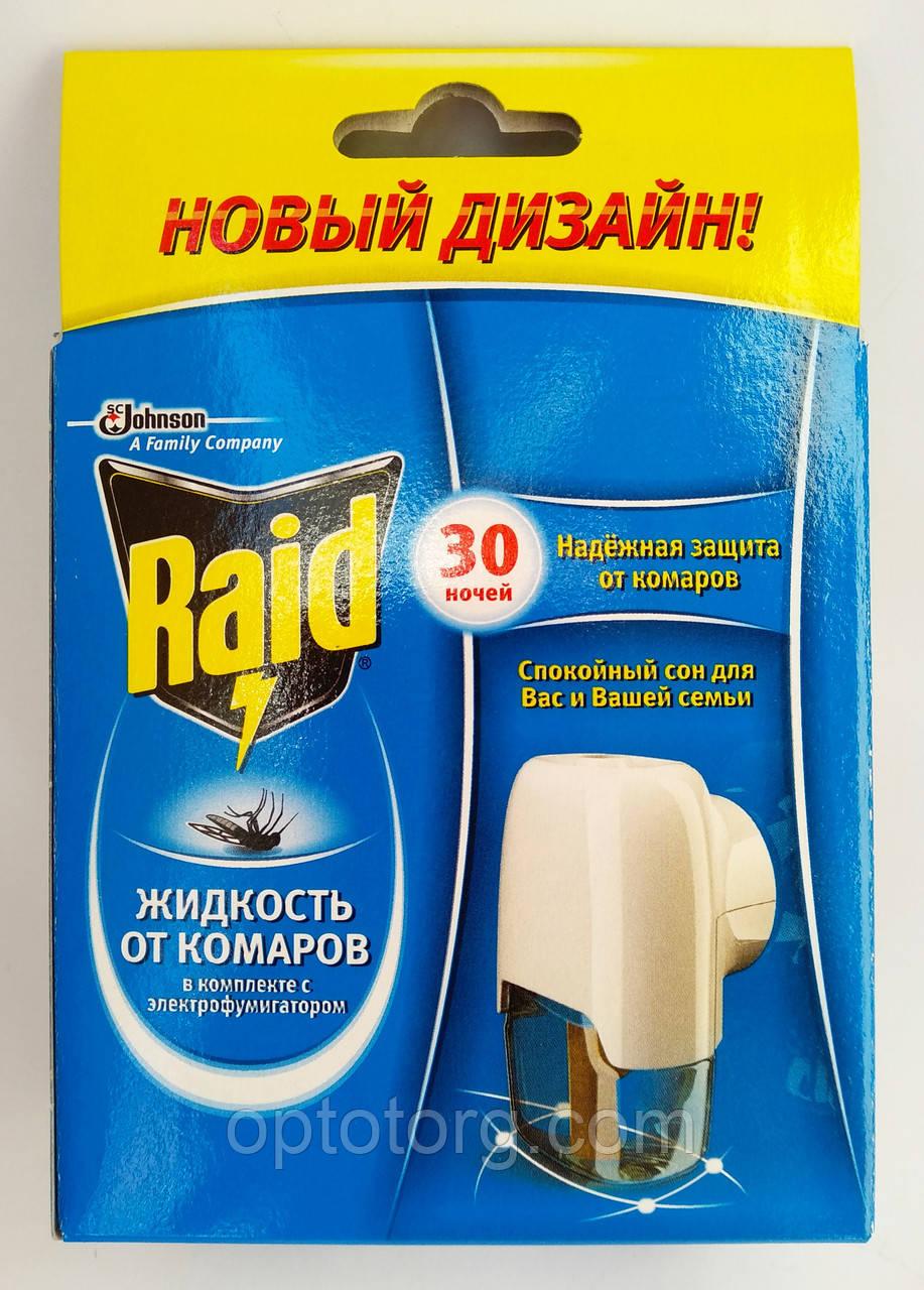 Рейд набор фумигатор+ жидкость 30 ночей от комаров оригинал