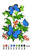 """Набор для вышивки нитками """"Бабочки"""". А5-026"""
