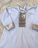 Крестильная рубашка с чепчиком для малышей Ангел (3-9 мес), фото 2