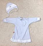Крестильная рубашка с чепчиком для малышей Ангел (3-9 мес), фото 3