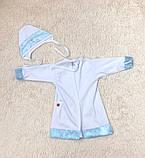 Крестильная рубашка с чепчиком для малышей Ангел (3-9 мес), фото 8
