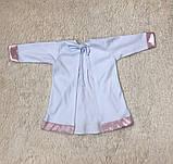 Крестильная рубашка с чепчиком для малышей Ангел (3-9 мес), фото 6