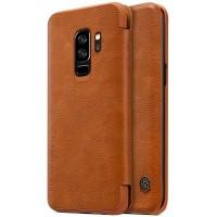 Кожаный чехол-книжка Nillkin Qin Series Brown для Samsung Galaxy S9 Plus