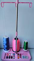 Подставка стойка для ниток бытовых швейных, вышивальных машин и оверлоков на 3 катушки и шпульки