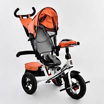 Детский трехколесный велосипед с пультом Best Trike 7700 B 6090 поворотное сиденье, надувные колеса, фото 2