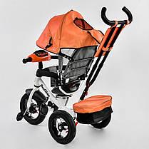 Детский трехколесный велосипед с пультом Best Trike 7700 B 6090 поворотное сиденье, надувные колеса, фото 3