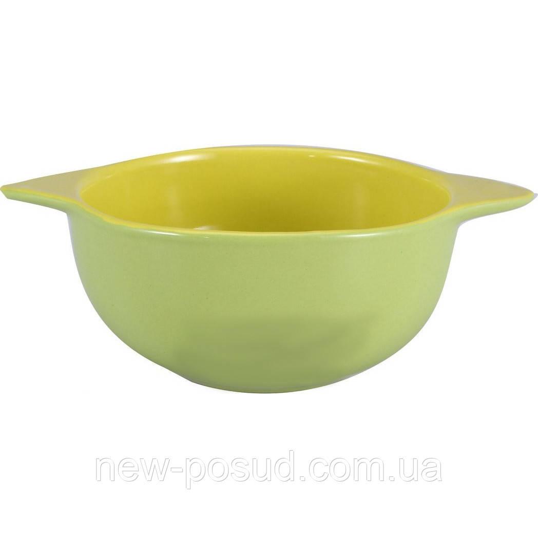 Миска для супа Wellberg Colore 0,5 л. с ручками WB 20236