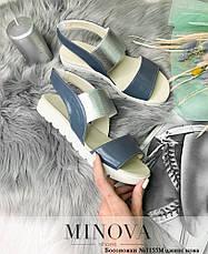 Босоніжки жіночі шкіряні, розмір:36-41, фото 3