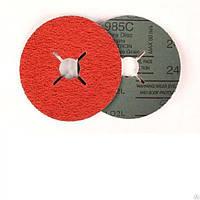 3M 61351 - Фибровые шлифовальные круги 985С CUBITRON, 125Х22мм, P80, для изделий из нержавеющей стали