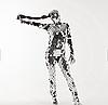 Зеркальный диско костюм Noblest Art  для шоу, концертов, сценических постановок (LY3217)