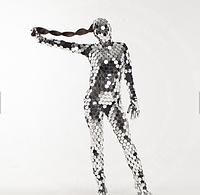 Зеркальный диско костюм Noblest Art  для шоу, концертов, сценических постановок (LY3217), фото 1