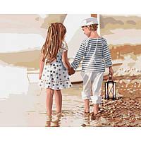 """Картины по номерам ТМ Идейка, на подрамнике - Дети """"Дружба"""" 40*50 см, без коробки"""
