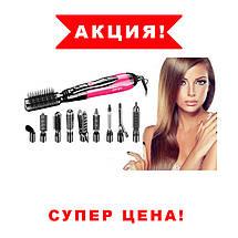 Фен щетка Стайлер Gemei GM 4835 10 в1 со сменными насадками , для завивки волос,спиральная Воздушный, фото 2