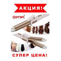Плойка Утюжок для волос Gemei GM-2961 2 в 1, фото 3