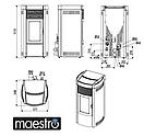 Пеллетная печь MCZ MUSA Comfort Air 12- Maestro, фото 7