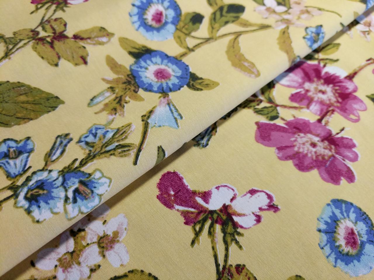 Бенгалин рисунок цветочная фантазия, бледно-желтый