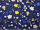 Бенгалин рисунок цветочная поляна, синий, фото 2