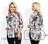 Женская рубашка из софта с круглыми углами на подоле (3 цвета) - Пудра SD/-2655