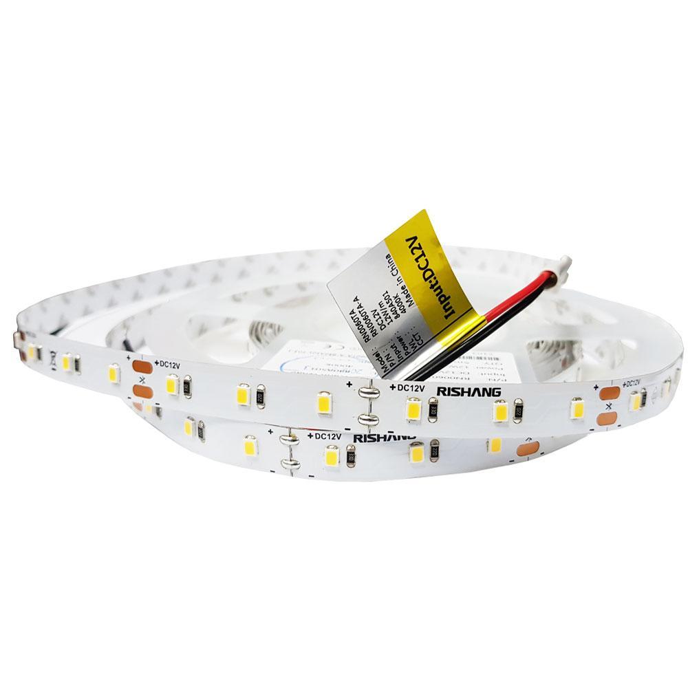 Світлодіодна стрічка 12вольт 12Вт 956лм 4000К 2835-60-IP33-NW-10-12 RN0060TA-A нейтральн Рішанг 7492