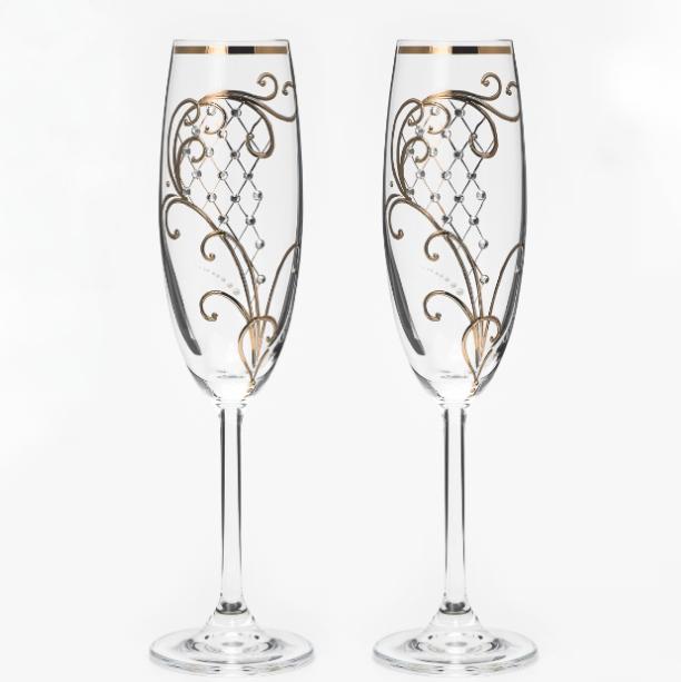 Свадебные бокалы VIP модель 8