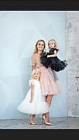 Нарядные пышные платья для мамы и дочки