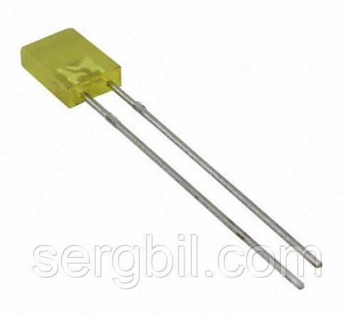 2х5х7мм светодиод желтый корпус желтый