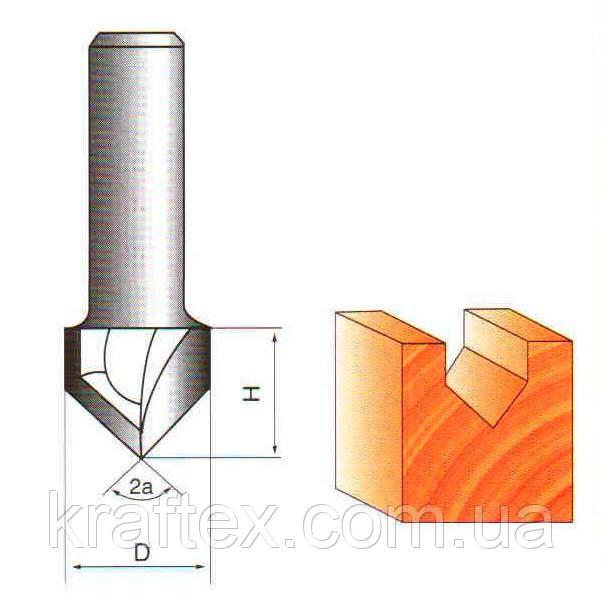 Фреза 1004 Sekira, Globus, Topfix (Пазовая гальтельная) ∠90° D:16ммl:16mm d:8мм