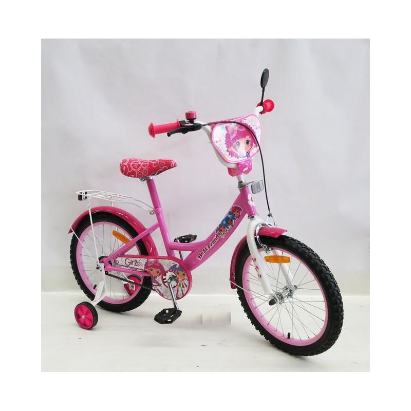Велосипед 2-х колес 18'' 181825 со звонком,зеркалом,ручной тормоз